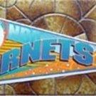 Charlotte Hornets Slam Dunk NBA Basketball Pennant White Wincraft w Cardboard