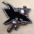"San Jose Sharks NHL Hockey Die Cut Patch 2 1/2"""