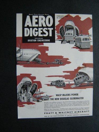 1950 Aero Digest Pratt & Whitney Proof C124 Globemaster
