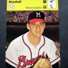 1977-1979 Sportscaster Card Baseball Warren Spahn Milwaukee Braves 23-23