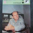 1977-1979 Sportscaster Card Track and Field Emil Zatopek 14-12