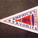 "NFL Football America's Favorite Sport Logo Mini Pennant Cloth Patch 3"" x 2"""