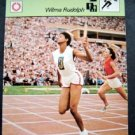 1977-1979 Sportscaster Card Track and Field Wilma Rudolph 18-02