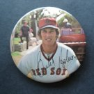 """1970's Boston Red Sox Pin BUTCH HOBSON  3"""" with Facsimilie Autograph"""