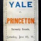 Vintage Yale vs Princeton University Score Card June 6th 1891