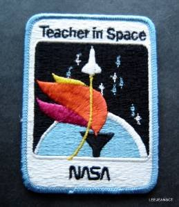"""NASA AB Emblem Space Patch 4"""" by 3"""" Teacher in Space"""