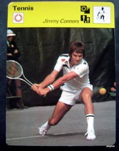 1977-1979 Sportscaster Card Tennis Jimmy Connors 01-18