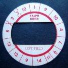 Cadaco All-Star Baseball Game Disk Ralph Kiner Left Field