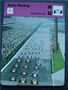 1977-1979 Sportscaster Card Auto Racing Indianapolis 06-02