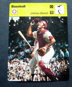 1977-1979 Sportscaster Card Baseball Johnny Bench Cincinnati Reds 04-22