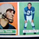Original 1957 Topps Football Card Billy Vessels Baltimore Colts Back # 29 VG/EX