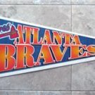 "Atlanta Braves Baseball Pennant 1990's Wincraft  USA Full Size 30"" by 12"""