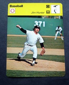 1977-1979 Sportscaster Card Baseball Jim Catfish Hunter NY Yankees 14-10
