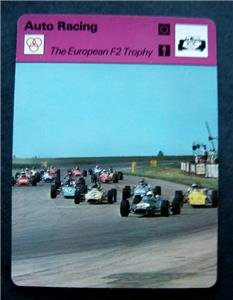 1977-1979 Sportscaster Card Auto Racing The European F2 Trophy 13-16