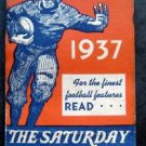 1937 Football Schedules Booklet The Saturday Evening Post