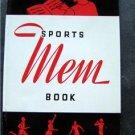 "Vintage Sports ""Mem"" (Memory) Book 24 Page Booklet for Autographs"