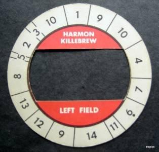 Cadaco All-Star Baseball Game Disk Harmon Killebrew Left Field