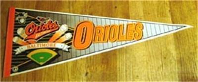 Baltimore Orioles New Baseball Pennant 1990's Wincraft