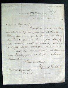 1892 Norwich & New York Transportation Co Letterhead NORWICH LINE