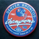 "Denver Broncos AFC Champions 1987 Super Bowl Football PIN 3 1/4"""