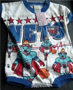 New Jersey Nets NBA Basketball Infant Romper Onesie 12 Months Cotton Poly