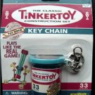 Tinker Toy Key Chain 2001 Hasbro Sealed on Card 33 Pieces Construction Set