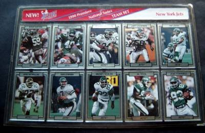 1990 Action Packed 10 Card Team Set NY Jets NFL Football Sealed