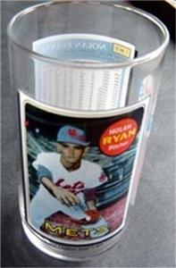 1993 McDonalds Coca Cola Baseball Glass Nolan Ryan