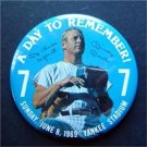 """Mickey Mantle NY Yankees Retirement Day to Remember Pin 3"""" Diameter June 8 1969"""