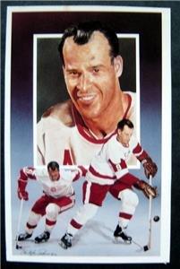 Gordie Howe Legends NHL Hockey Color Post Card #4 1st Series 1991 Paluso