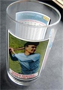 1993 McDonalds Coca Cola Baseball Glass Lou Gehrig