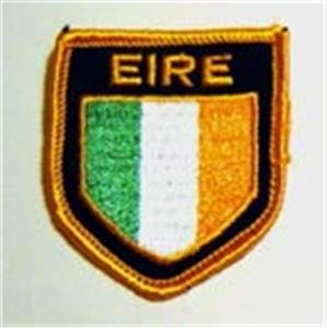 Ireland EIRE Flag Shield Crest Cloth Sew On PATCH