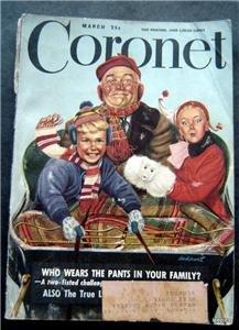 Coronet Magazine March 1948 Vintage Ads Kelvinator Amos & Andy J Edgar Hoover