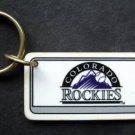 """Colorado Rockies Plastic Key Chain Tag Express MLB 1995 2 1/4"""""""