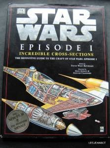 """Star Wars Episode 1 Incredible Cross Sections Book w Dust Jacket 1999 11"""" x 14"""""""