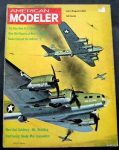 American Modeler Magazine July August 1963 Planes Boats Cars Photos Plans