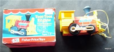 Vintage 1972 Fisher Price Toot Toot Engine in Original Box # 643