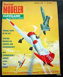 American Modeler Magazine January 1962 Planes Boats Cars Photos Plans