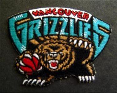 """Vancouver Grizzlies Basketball NBA Cloth Patch 4 1/4"""""""
