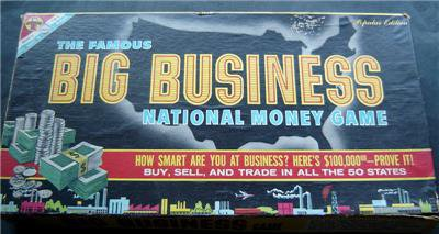 Famous Big Business National Money Board Game 1959 Transogram