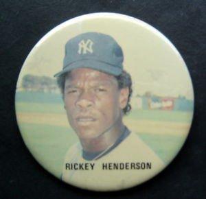 "Rickey Henderson New York Yankees Color Photo Pin 3"" Diameter"