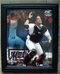 "Mike Piazza NY Mets 2000 Subway World Series Framed Photo 8"" x 10"""
