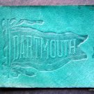 """Vintage Dartmouth College 1910 Leather Pennant Patch 2 1/2"""" by 2"""""""