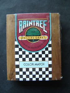 Raintree Wood Puzzles Games COLOR MATCH Sealed