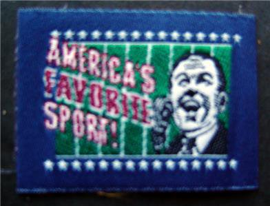 "AMERICA'S FAVORITE SPORT Cloth Label  3"" NFL Football PATCH"