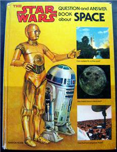 Star Wars Question and Answer Book About Space 1979 Hardcover