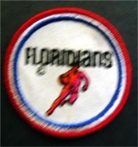 """Floridians ABA Basketball Logo Patch 3"""" Round"""