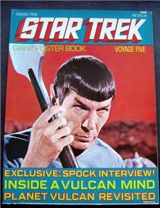 1977 Star Trek Giant Poster Book Voyage Five 5 Spock Cover