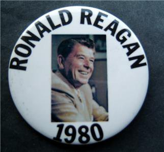 Ronald Reagan 1980 Political Photo Picture Pin