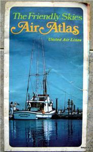 1973 United AirlinesThe friendly Skies Air Atlas Map Booklet